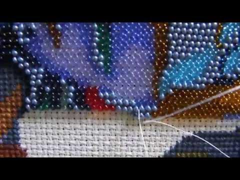 Способы вышивки бисером фото