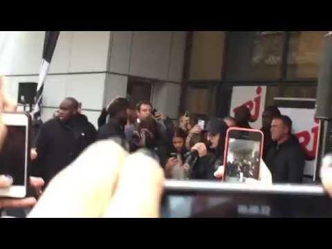 Justin Bieber performing Boyfriend in Paris (NRJ Radio Station)