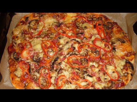 Пицца из теста в духовке в домашних условиях 151