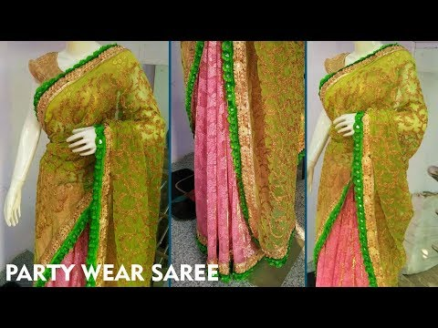 Make Party Wear Saree || Designer Saree || Party Wear Sarees || Step by step Tutorial