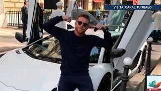 Canelo Álvarez disfruta de su Lamborghini en las calles de Mónaco