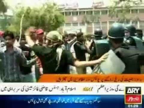 Islami Jamiat Talaba (IJT), police clash as protest turns violent in Lahore