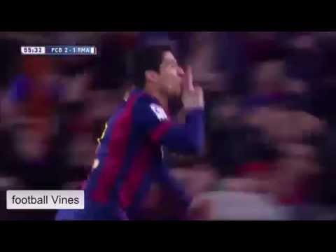 Luis Suárez Great Goal   Barcelona vs Real Madrid 2:1 22 .03 .2015 HD