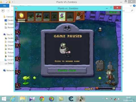 Cara menggunakan cheat engine di game plants vs zombie