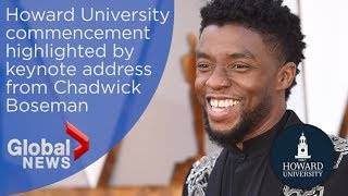 Chadwick Boseman urges students to fight discrimination in Howard University commencement speech