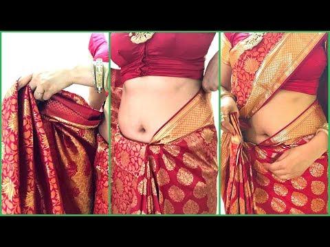 How To Wear Saree For Wedding | How To Drape South Indian Bridal Saree Perfectly | Kanjivaram thumbnail