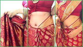 How To Wear Saree For Wedding   How To Drape South Indian Bridal Saree Perfectly   Kanjivaram