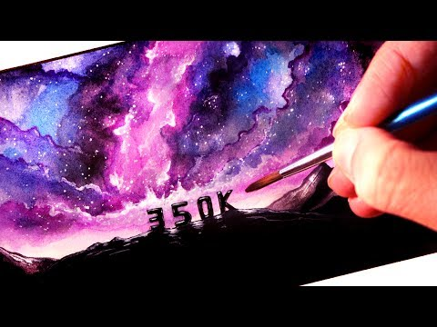 Painting and saying THANK YOU - 350,000 SUBSCRIBERS!