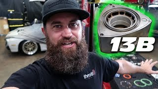 REBUILDING THE FD RX-7's 13B ROTARY ENGINE!!!!!