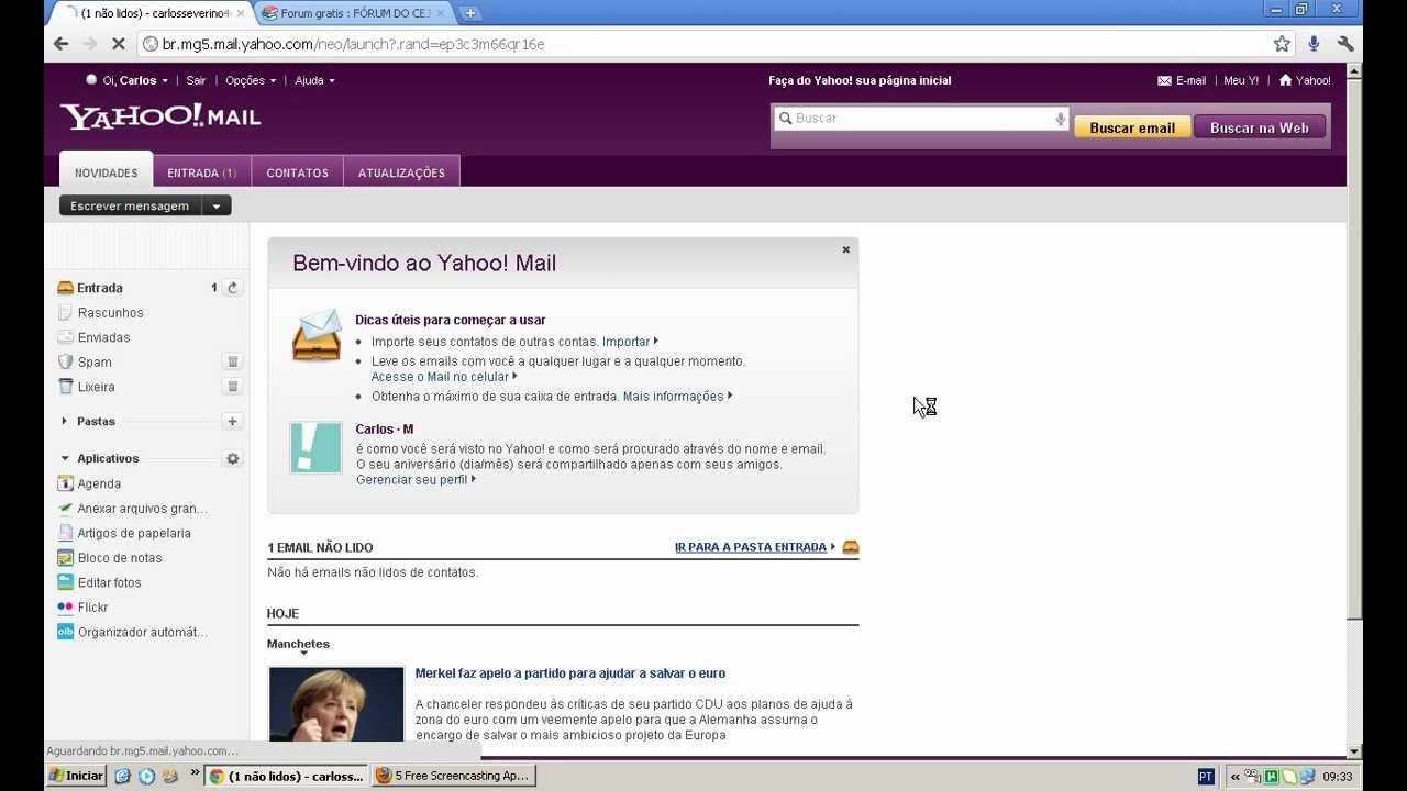 Como criar um e-mail do Yahoo.com.br - YouTube