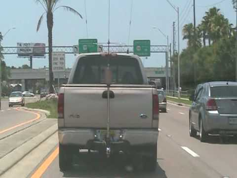 TRUCK WITH BIG HAM RADIO ANTENNA OR CB ANTENNA