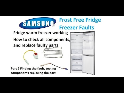 Part 2 Samsung Fridge freezer faults Testing Ntc.Element. Thermal fuse and replacing parts
