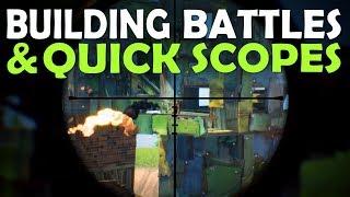 INTENSE BUILDING BATTLES & QUICK SCOPES | DAEQUAN CANT SNIPE? - (Fortnite Battle Royale)