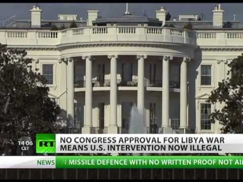 US bombs in Libya officially illegal after 60 days of war