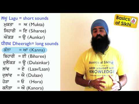 Gurmukhi #8 - Lagaan - Ten vowel sounds