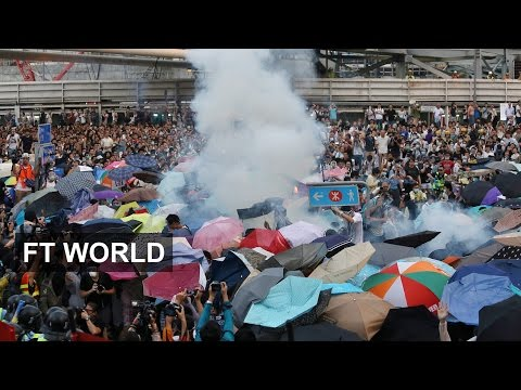 Police fire tear gas at Hong Kong protest