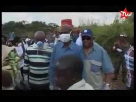 RDC: Accident de train a Kamina Avril 2014  DRC train accident in Kamina in April 2014.