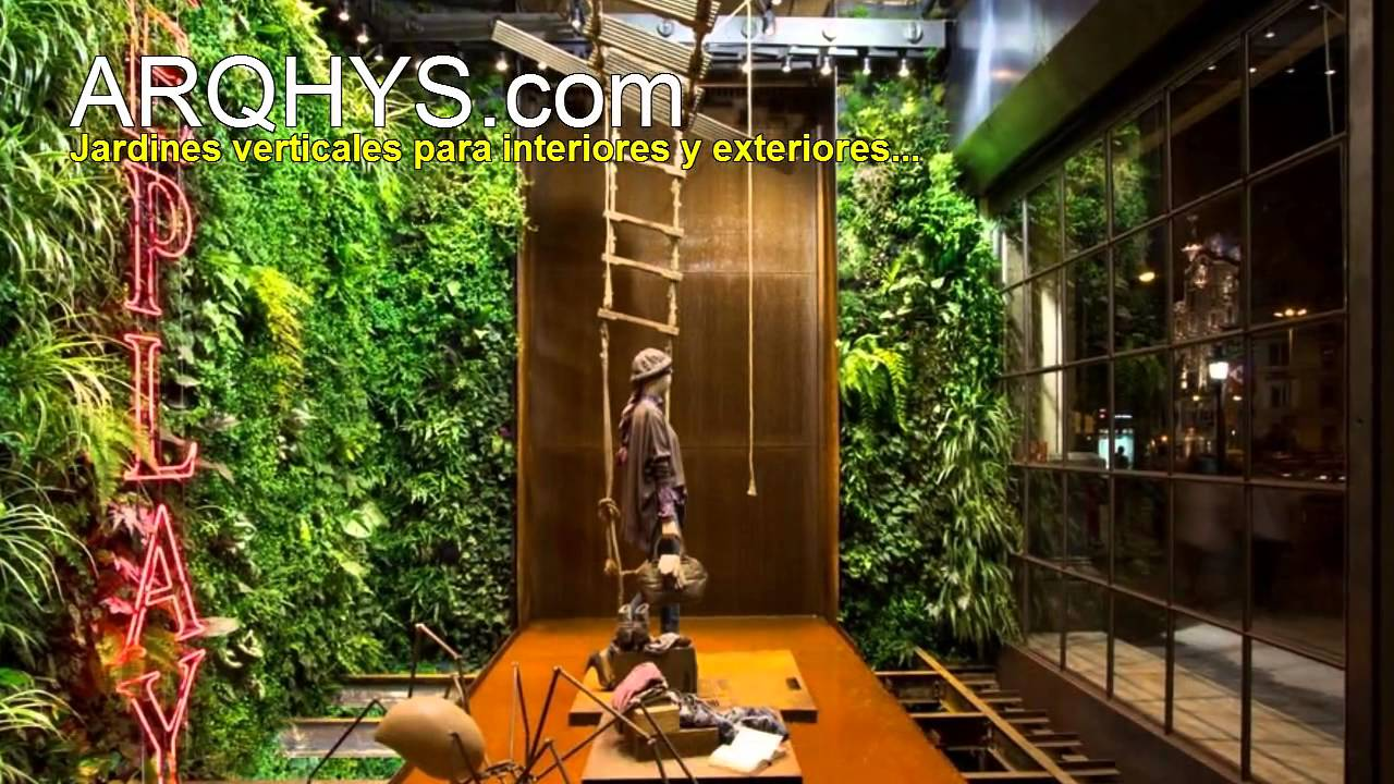 Ideas para construir un jardin vertical youtube for Jardines verticales para interiores