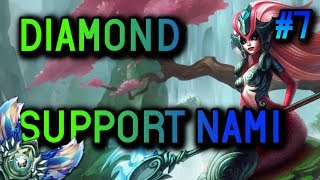 DIAMOND Support Nami S8 Full Gameplay #7 - League of Legends