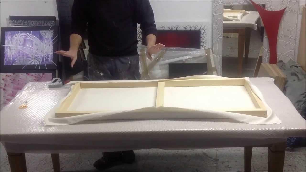 Como hacer un lienzo youtube for Como pintar puertas de sapeli