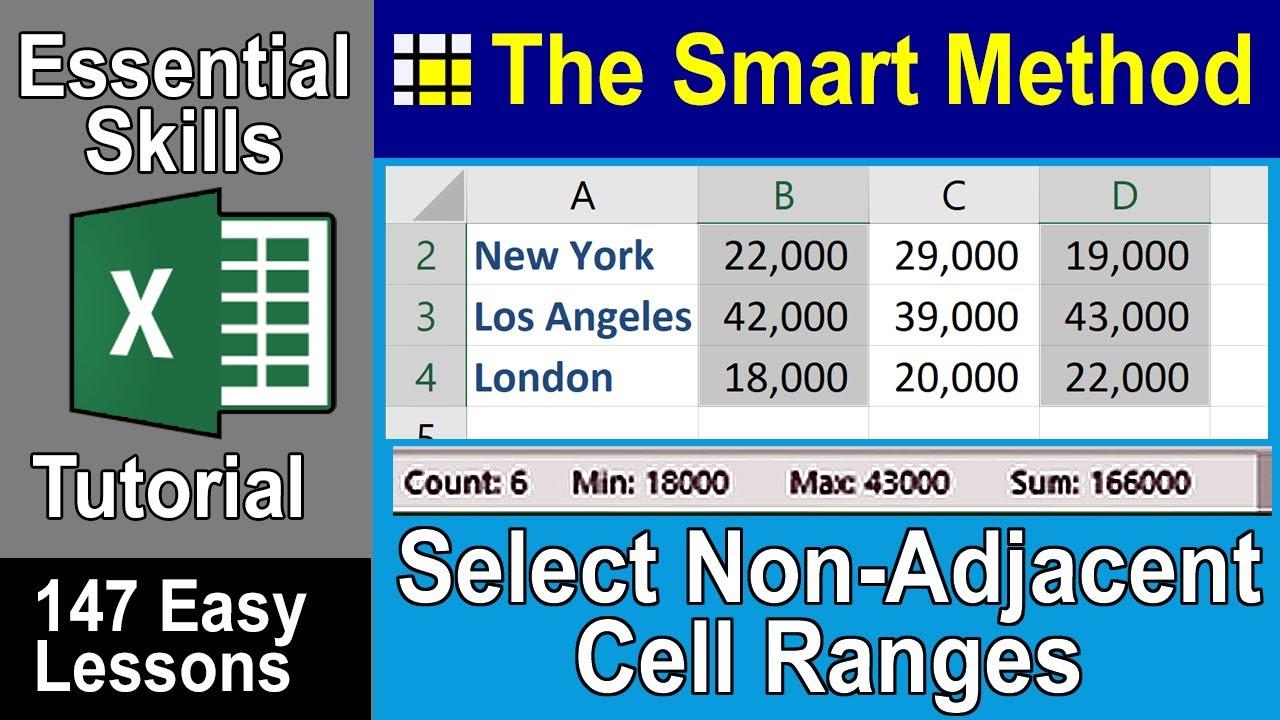 non-contiguous cell ranges