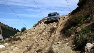 Extreme off roading W124 Mercedes sedan