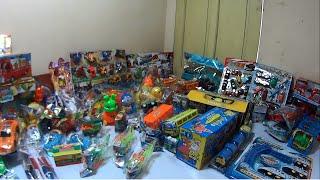 Xe máy xúc, đồ chơi, mô hình xe cần cẩu, khủng long, xe cảnh sát, câu cá, máy bay trẻ em