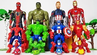 Avengers Smaller & Bigger Transformation, Go~! Hulk, Iron man, Spider Man, Captain America