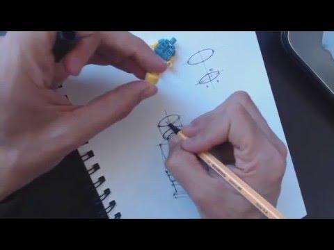 Cómo dibujar un muñeco de Lego