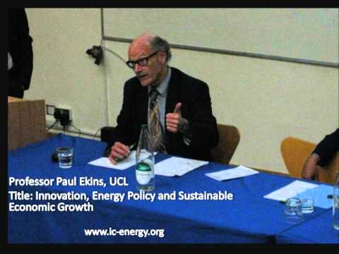 Part 2: Talk by Professor Paul Ekins