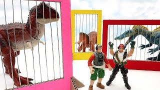 Dinosaur Toys For Kids - Dinosaurs! Let's Escape From Prison Fun Movie For Kids