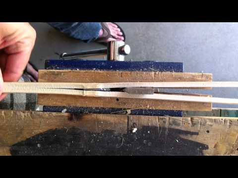 Splitting cane - Bamboo fly rod building