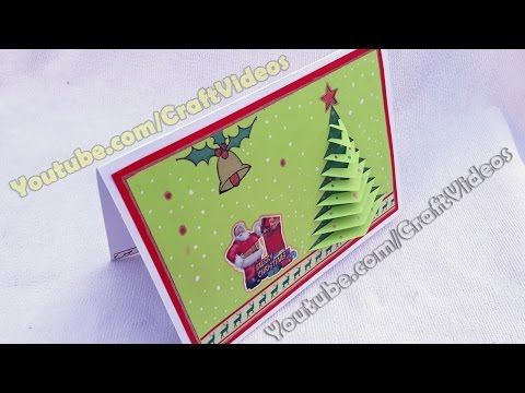 How to make 3D Christmas pop up cards | Christmas Tree Card