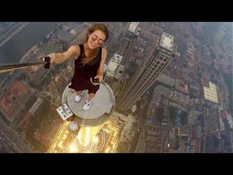 Fearless Roofer Angela Nikolau. No limit no control & VERY CRAZY
