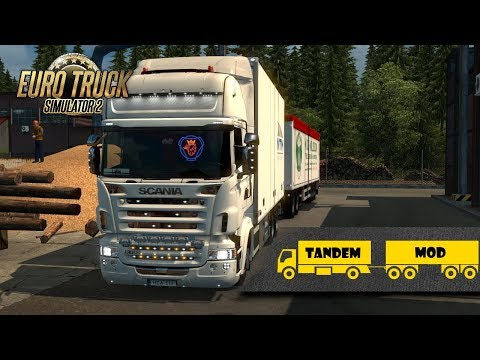 (18.07 MB) [ETS 2] Kraker/NTM Tandem addon for RJL Scania RS & r4 v1.3 (1.30)
