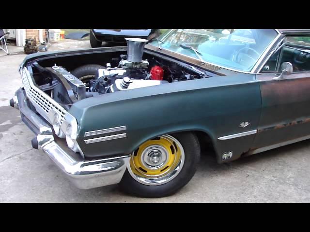 "63 CHEVY IMPALA 454 BBC ""CHEECH and CHONG"" LOW RIDER SAVED FROM CRUSHER NEW LIFE!"
