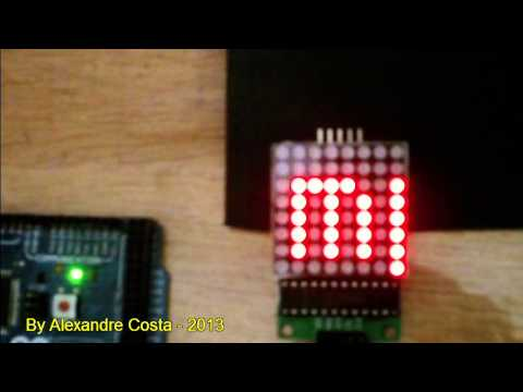 Arduino 8x8 LED Dot Matrix with MAX7219 IC from banggood.com