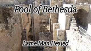 Video: Lame man healed (Pool of Bethesda) - HolyLandSite