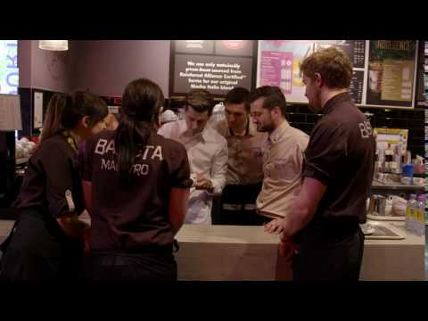 Costa Coffee x Rainbow Latte Art