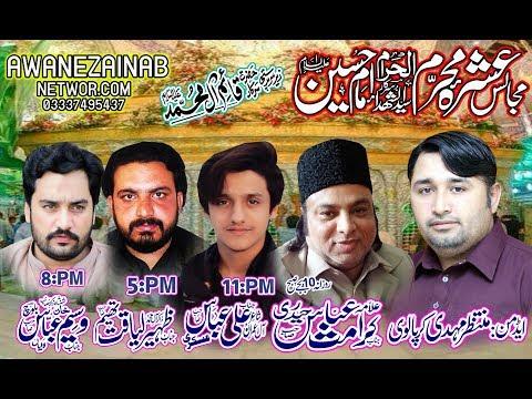 live Allama Karamat Abbas Haidrey 4  muharram 2019 batapur