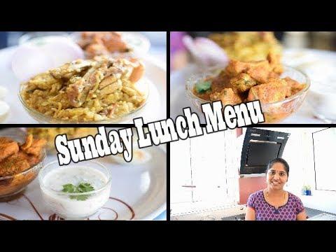 Sunday Lunch Menu || Easy Chicken Biryani || Easy Chicken Curry || Raitha