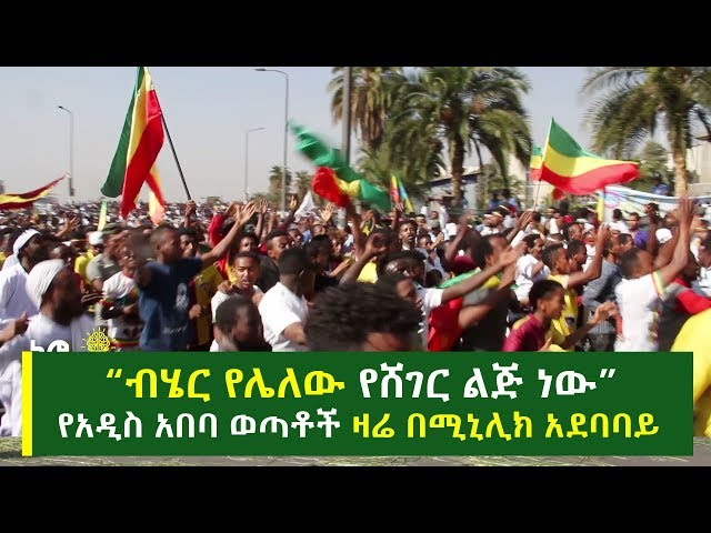 An Amazing Rally By Youths Of Addis Ababa