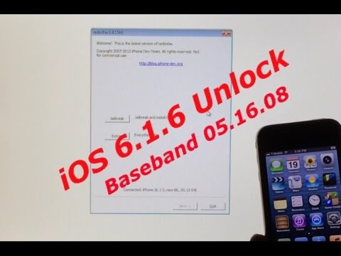 iPhone 3GS Untethered Jailbreak and Unlock for iOS 6.1.6 with Baseband 05.16.08