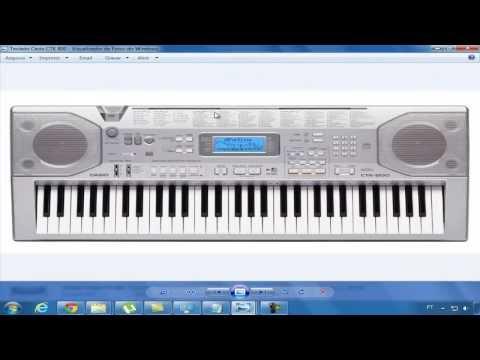 Como configura USB Midi de um teclado Musical - Ex:(CTK 800)