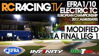 EFRA 1/10th Electric Touring Car Euros 2017 - Modified A Final Leg 1