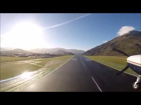A scenic take off from Queenstown Airport - Milford Sound Scenic Flights
