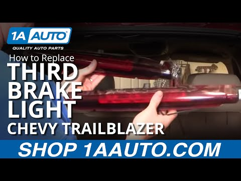 How to Install Repair Replace Broken 3rd Third Top Brake Light Chevy Trailblazer 02-09 1AAuto.com