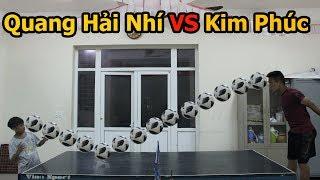 Thử Thách Bóng Đá với Quang Hải nhí đá bóng với bàn kiểu Ronaldinho - U23 Việt Nam tương lai ?