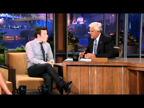 Chris Colfer & Kristin Chenoweth on Jay Leno show Part 1