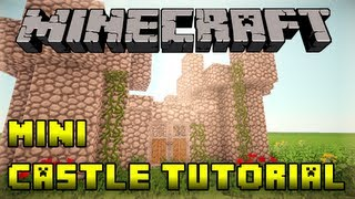 Minecraft - How to Build a Mini Small Castle Tutorial - Xbox/PS3/PE/PC (Fast and Easy!)